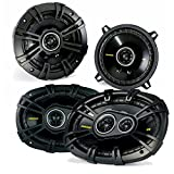 "Kicker Dodge Ram Truck 1994-2011 speaker bundle - CS 6x9"" coaxial speakers, and CS 5.25"" coaxial speakers."