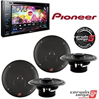 Pioneer AVH-290BT Multimedia DVD Receiver with 6.2 WVGA Display and Built-in Bluetooth + Cerwin Vega XED62 XED Series 6.5 Inch 2-Way Coaxial Car Speakers (2Pair)