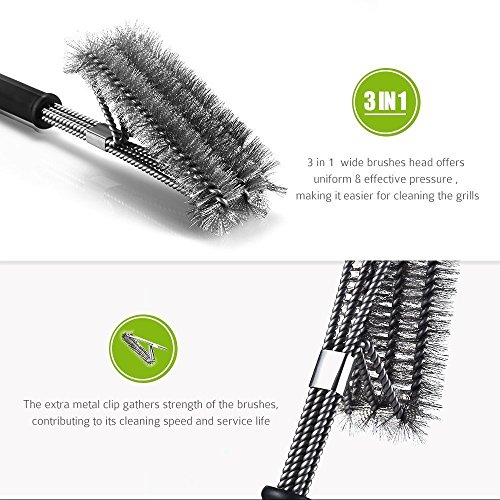 Charcoal Grill Brush 18