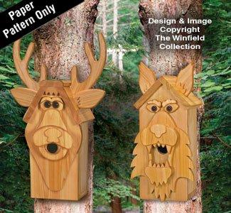 cedar-deer-wolf-birdhouse-plans