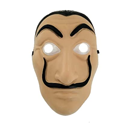 AODEW Salvador Dali Original La Casa De Papel Mascara Money Heist Face Mask PVC Mask Cosplay