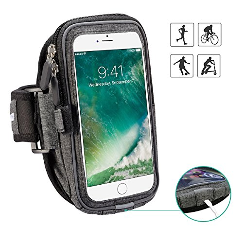 Xboun Sports Armband Case for Big Phones, Sweatproof Gym Jogging Exercise Running Armband for iPhone Xs 8 Plus 7 6s Plus 6 Plus/Sumsung Galaxy S9 S8 Plus/Motorola Moto X Pure/Droid Maxx 2