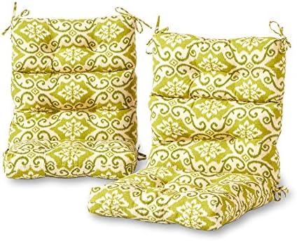Greendale Home Fashions Outdoor High Back Chair Cushion set of 2 , Shoreham