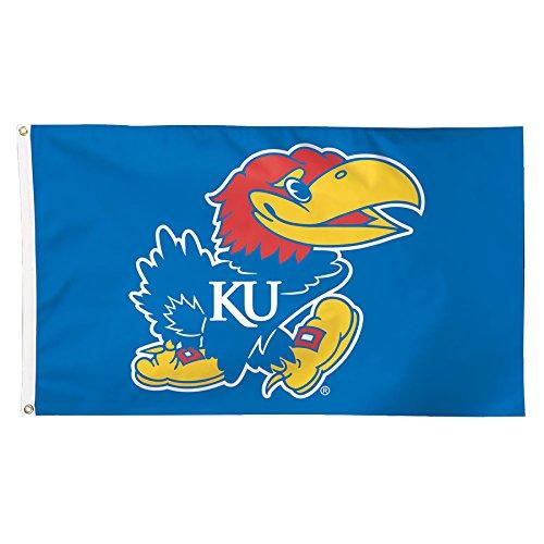 NCAA Kansas Jayhawks Deluxe Flag, 3 x 5', Multicolor