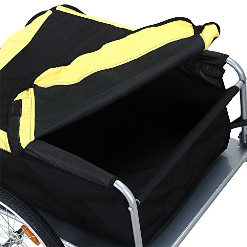 Yaheetech Garden Bike Bicycle Cargo Luggage Trailer-Yellow/Black by Yaheetech (Image #4)