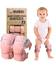 Baby Knee Pads for Crawling (2 Pairs)   Protector for Toddler, Infant, Girl, Boy (Bird)