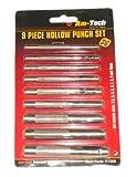 Am-Tech Hollow Punch Set (9 Pieces)
