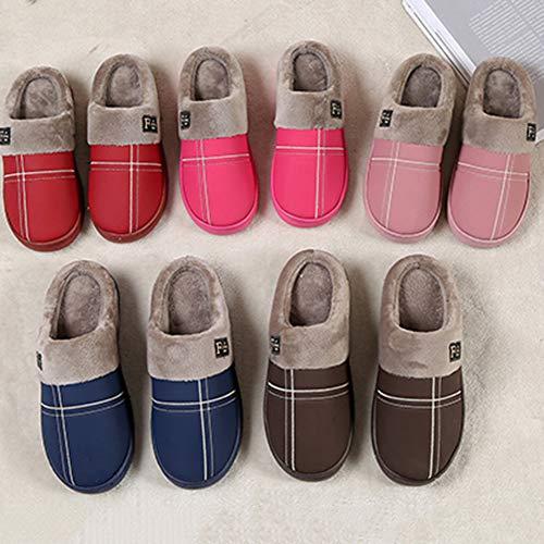 Loisir Yangyongli Couple Demi Mode Chaussures 43 Antidérapant Brun paquet Pantoufles Épais 42 Coton Paresseux Étanche Rose Fond qTHUTwXrx