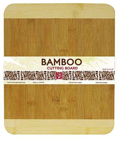 - Home Basics Cutting Board, Bamboo, 13.5 by 11.5-Inch