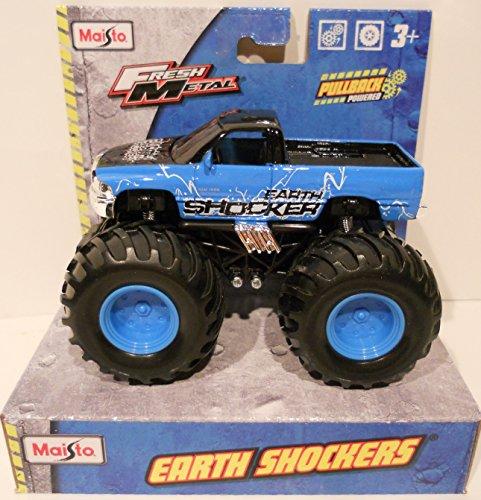 Blue Monster Truck (Earth Shockers Monster Truck (Light Blue and Black) Pullback Retrofriction)
