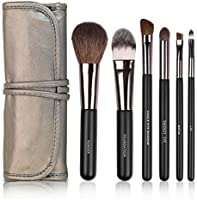 Docolor 6Pcs Makeup Brushes Set Goat Hairs Foundation Eyeshadow Brush Travel Kits