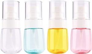 Driew Travel Size Spray Bottle, 30ml/1oz Refillable Mini Fine Mist Spray Bottles Pack of 4