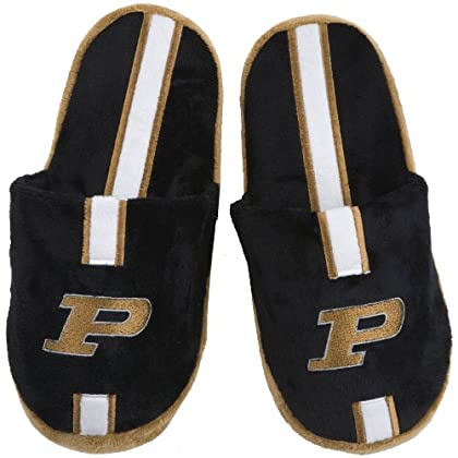 Image of Coasters Forever Collectibles NCAA Purdue Boilermakers 884966207822 Slippers, Team Colors, One Size