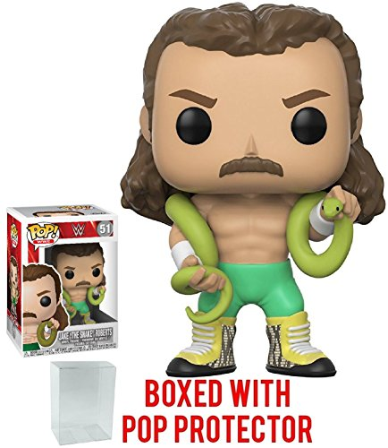 Funko Pop! WWE Jake 'The Snake' Roberts Vinyl Figure (Bundled with Pop Box Protector Case) by Funko