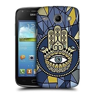 AIYAYA Samsung Case Designs Star and Crescent Hamsa Protective Snap-on Hard Back Case Cover for Samsung Galaxy Core I8260 I8262