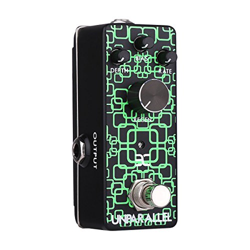 "EX-Unparallel Phaser Pedal Mini Phaser Guitar Pedal Delivers the Classic Filtered""Vocal"" Sound And Has It All Covered From Discrete Warbles to All Out Funk Wah"