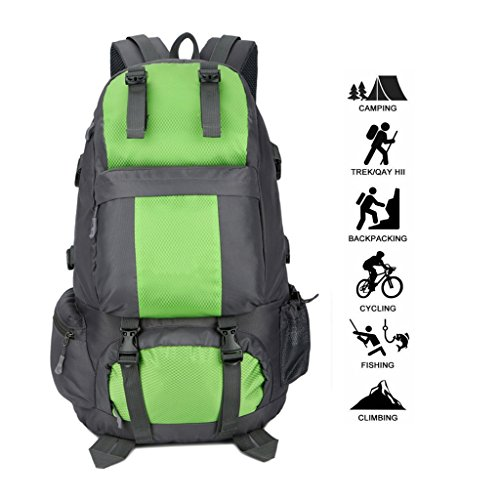 Green Outdoor Four Universal And zyy Nylon Backpack Waterproof Sports Color 50L Black Backpack Women Men Seasons Green Traveling Shoulders qzHzTd