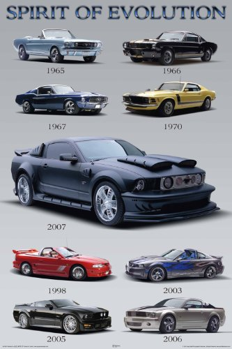 NMR 36006 Mustang Evolution Decorative Poster Mustang Evolution Poster