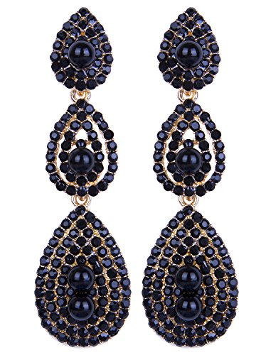 [Vijiv Gatsby Earrings Vintage 1920s Drop Chandelier Flapper Party Accessories] (60s Inspired Costumes)