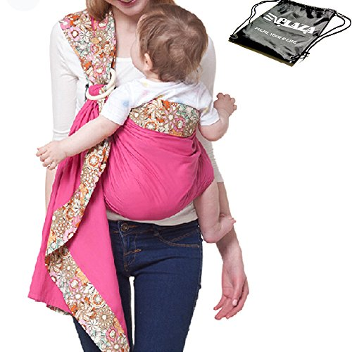 eplaza-6-in-1-walkabout-sling-ring-baby-stretchy-carrier-shoulder-pouch-wrap-comfort-backpack-breast