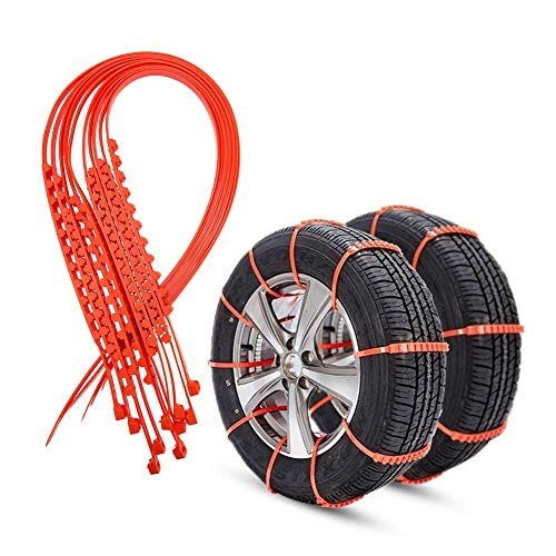 Bang4buck Universal Anti-Skid Tire Snow Chains for Car Sedan SUV Snow Winter Emergency Driving