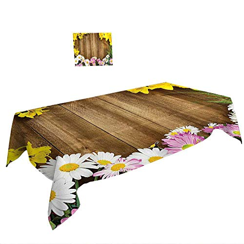Warm Family Spring & Summber Tablecloth W50 x L80 INCH,Natural Cave Decorations Water Eroded Reed Flute Cave Chinese Cistern Rain Harvest with Lights Artsy Photo Multi. Suitable for All ()