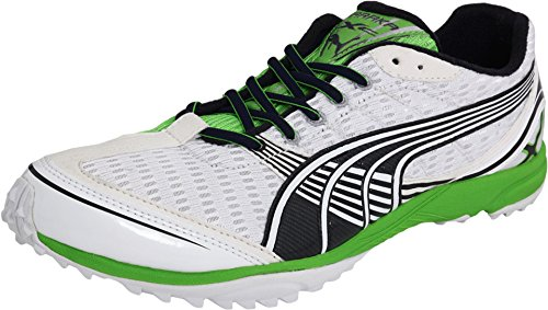 - PUMA Complete Haraka XC Spikeless, Color:White/Green, 14 D