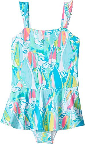 Lilly Pulitzer Kids Baby Girl's Mindy Swimsuit (Toddler/Little Kids/Big Kids) Multi Beach And Bae Swimsuit - Lilly Pulitzer Infant