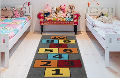 (Ottomanson CG1233-3X6 Children's Garden Collection Educational Hopscotch Design, 2'7