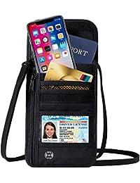 Travel Wallet RFID Blocking Hidden Money Pouch & Neck Passport Holder
