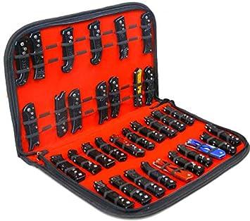 QEES - Estuche expositor para cuchillos, bolsa de almacenamiento de herramientas: Amazon.es: Bricolaje y herramientas