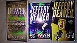 Jeffery Deaver 3 Paperback Set: The Vanished Man, The Broken Window, The Twelfth Card