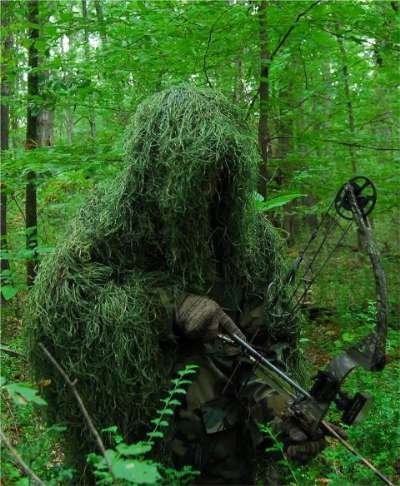 Ghillie Ultralight (GhillieSuits Synthetic Ultra-Light Ghillie Bow Hunting Jacket Right Hand Leafy Green XL)