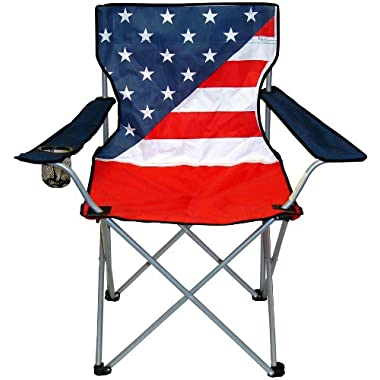 VMI Folding Chair with USA Flag Print