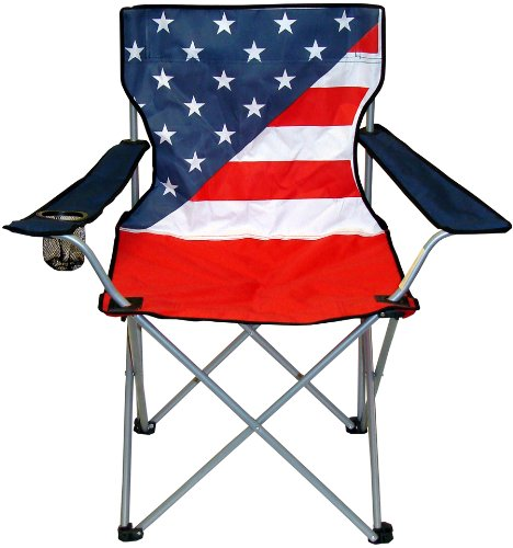 VMI Folding Chair With USA Flag Print Gazebos Patio