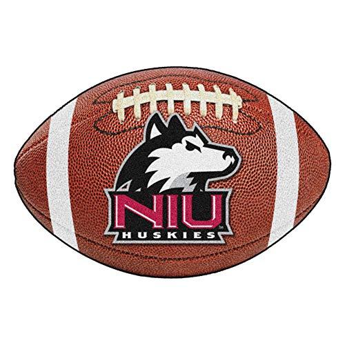 FANMATS NCAA Northern Illinois University Huskies Nylon Face Football - Football Rug Illinois