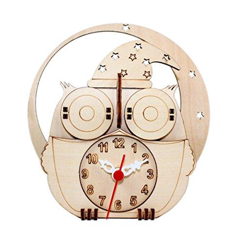 DIY Wooden Puzzle Clock 3D Jigsaw Puzzles Magic Night Owl