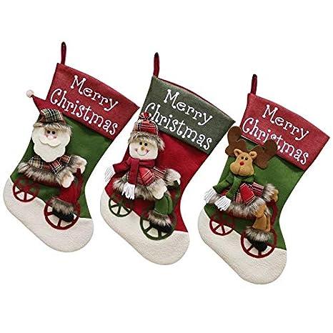 Deco Juego de 3 Fieltro de botas de Navidad para rellenar y ...