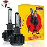 KAI AKARUI LED Headlight Bulbs Conversion Kit - Single Beam - CSP LED Chip - 7000 lumens - 6K Cool White - Official Warranty - Pair (H8 (H9/H11/H16))