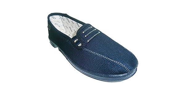 Zapatilla plana con gomas a los lados muy cómodas Doctor Cutillas en azul marino talla 42