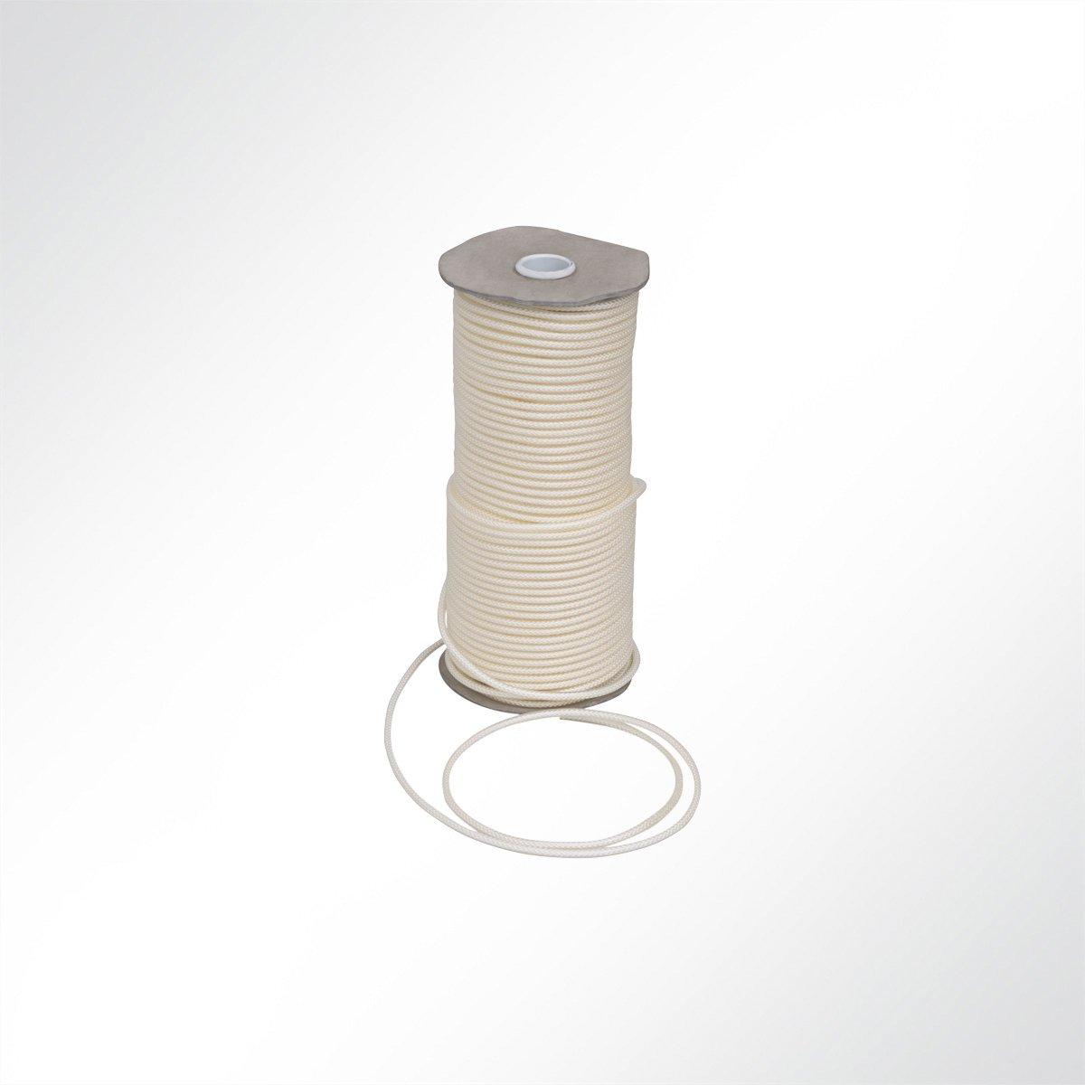 1 m LYSEL Kunststoffplanenseil mit Nylon-Einlage, D 5mm in Transluzent