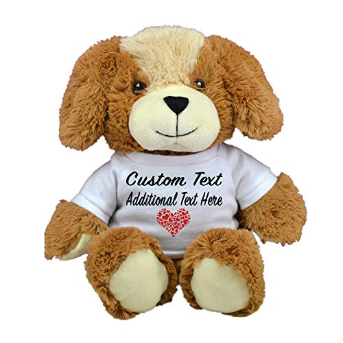 LOVE BEAR Limited Edition! Customized Plush Toys DIY Create Your Own Best Romantic Gift for Lovers St Valentine's Day by CustomizedbyBilgin (Cute Dog) ()