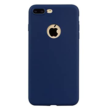 Funda iPhone 7 Plus, Carcasa iPhone 8 Plus, WindTeco Mate Case Ultra Delgado TPU Goma Flexible Cover Protectora Carcasa de Silicona Gel Suave Bumper ...