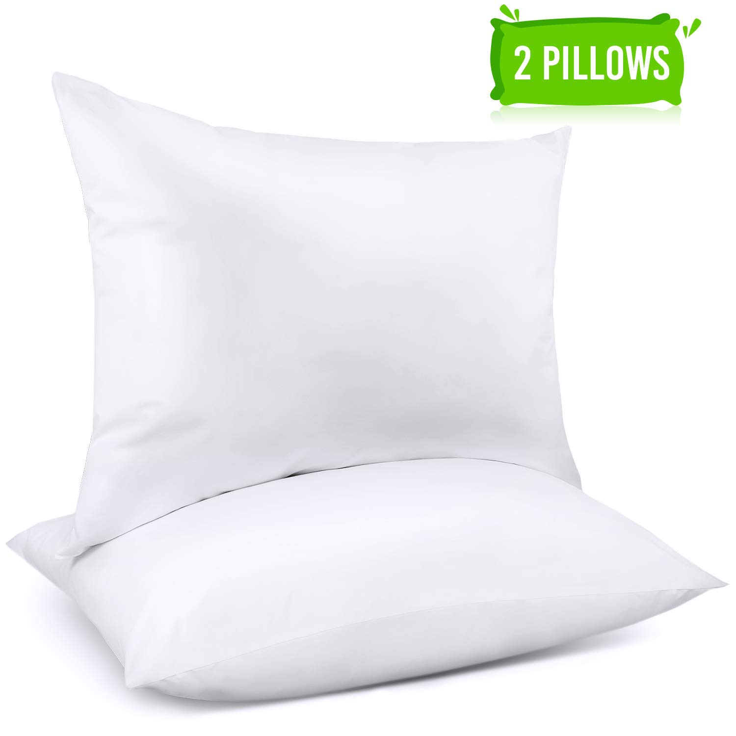 2-Pack) Down Alternative Bed Pillows 100% Cotton