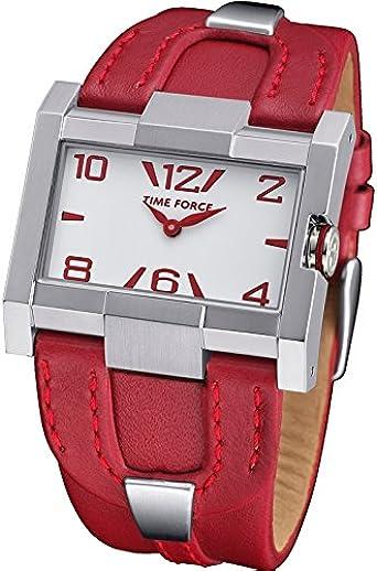 Time Force Tf4033l14 Reloj Analogico para Mujer Caja De Acero Inoxidable Esfera Color Blanco: Amazon.es: Relojes