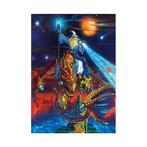 Kofun 5D DIY Diamond Painting, 5D DIY Painting Paint by Numbers Diamonds Embroidery Painting Cross Stitch Kit DIY Home Decor Wizard 30x40 - Wizard Paint