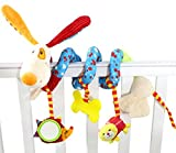 Happy Cherry Baby Rattle Toy Lovly Dog Plush Crib
