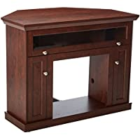 ClassicFlame 23DE9047-PC81 Windsor TV Stand for TVs up to 45, Antique Cherry (Electric Fireplace Insert sold separately)