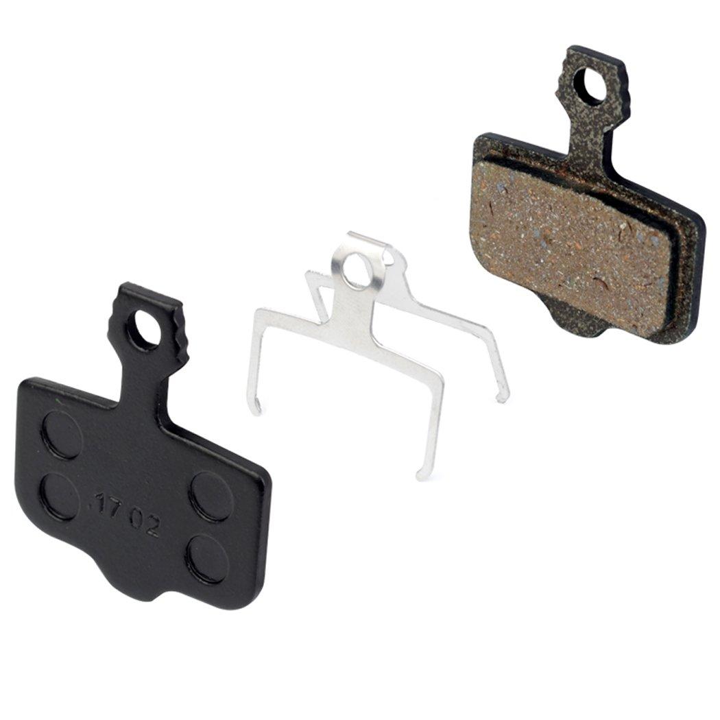 Fansport 2 Pares Pastillas de Freno de Disco Pastillas de Freno Semi Metal Resina Silencioso Pastillas de Freno de Bicicleta Componentes y repuestos