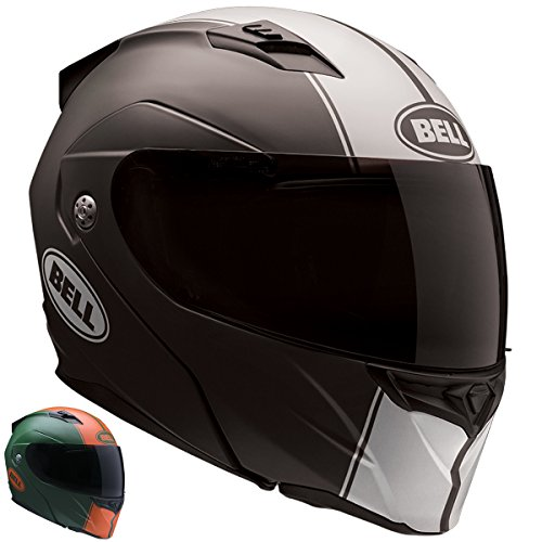 Bell Revolver Evo Unisex-Adult Modular/Flip Up Street Helmet (Rally Matte Black/White, Small) (D.O.T.-Certified) by Bell